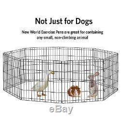 Small Pet Animal Exercise Play Pen Portable Fence Cage Indoor Outdoor Dog Puppy