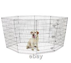 Tall Dog Playpen Exercise Cage Crate Indoor Outdoor Puppy Fence Pet Play 42-Inch