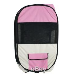 UBRTools New Large Pet Dog Cat Tent Playpen Exercise Play Pen Soft Crate T8 Pink