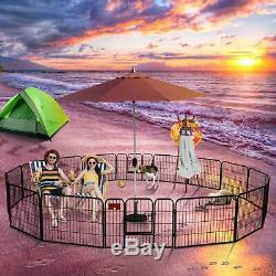 Upgraded Version Pet Playpen Dog Exercise Pen Puppy Fence Indoor &Outdoor Dog