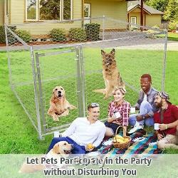 VILOBOS Dog Playpen Crate Kennel Large Lockable Outdoor Pet Cage Exercise Fence