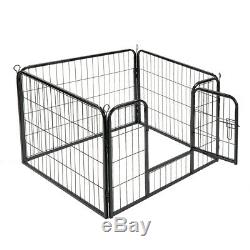 VIVOHOME 24/ 39.5 Metal Cage Crate Pet Dog Cat Fence Exercise Playpen Kennel
