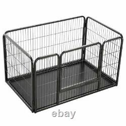 VidaXL Dog Play Pen Crate Fence Pet Play Pen Exercise Puppy Kennel Cage Yard