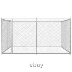 VidaXL Outdoor Dog Crate Kennel Steel Wire Play Pen Exercise Puppy Cage Fence
