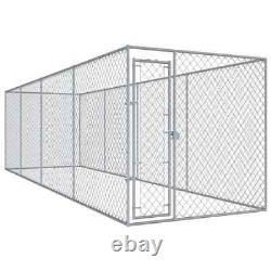 VidaXL Outdoor Dog Large Crate Kennel Pet Play Pen Exercise Cage Steel Safety