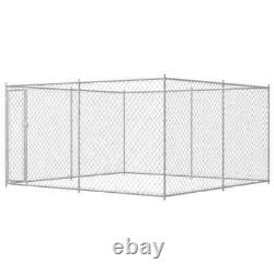 VidaXL Outdoor Large Dog Kennel Garden Pet Exercise Playpen Playing Cage House