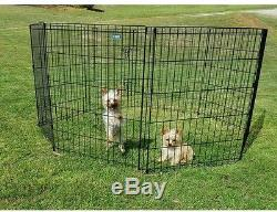 Wire Dog Cage Kennel Exercise Play Pen for Pet Puppy Dog Cage Dual Latch 30 in