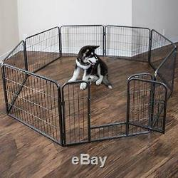 Wire Pen Dog Fence Playpen Pet Dogs & Cats Outdoor Exercise Pens 24 Small