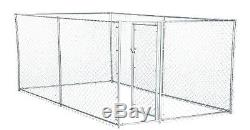 XXL Chain Link Fence Outdoor Dog Run Kennel Extra Large Dogs Exercise Pet Pen