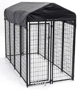XXL Dog Kennel Large Cover Cage Pen Animal Wire Lucky Dog Welded Safe Exercise