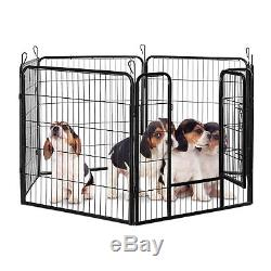 XXL Puppy Playpen for Indoors and Outdoors, Metal Dog Kennel, Exercise Pen, Cage