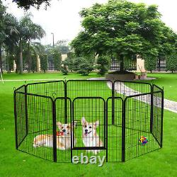 Yintatech 8-Panel Portable Dog Cage Pet Playpen Puppy Heavy Duty Fences Exercise
