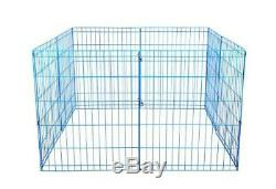 (style2) Blue 36 Tall Dog Playpen Crate Fence Pet Kennel Play Pen Exercise